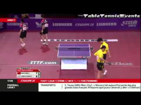 Ma Lin/Hao Shuai Vs Chuang Chih-Yuan/Chen Chien-An: Final [WTTC Paris 2013]