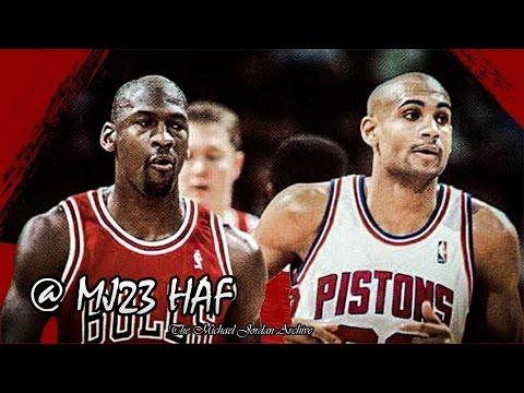 Michael Jordan vs Grant Hill Highlights Bulls vs Pistons (1996.01.21) - 60pts Total!