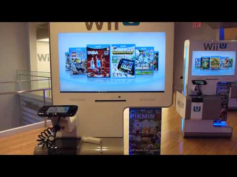 Official Nintendo Wii U Cover Loader @Nintendo World Store New York !