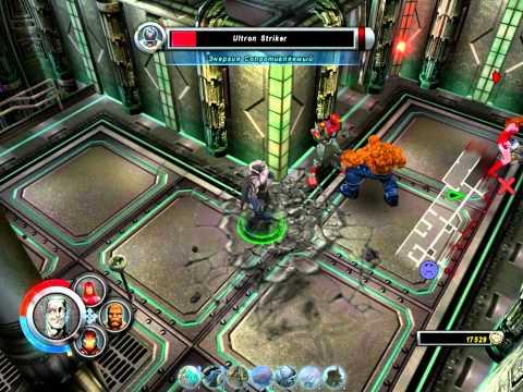 Marvel: Ultimate Alliance - Scarlet Witch, Thing, Grey Gargoyle, Iron Man.