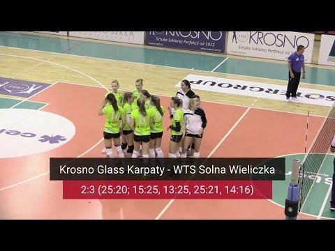 1. Liga Siatkówki Kobiet: Krosno Glass Karpaty AZS PWSZ MOSiR - WTS Solna Wieliczka 2:3