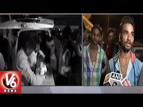 4 Lost Life And 5 Injured In LPG Cylinder Explosion At Agra's Iradat Nagar | V6 News