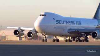 Southern Air Cargo Boeing 777F [N775SA] Pushback Taxi and Takeoff
