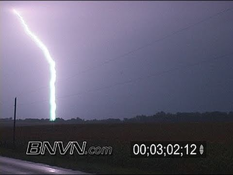  8/11/2007 Extreme Vivid Lightning At Night Near Delano, MN
