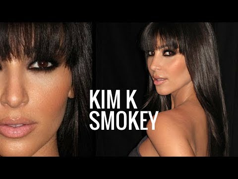 KIM KARDASHIAN MAKEUP TUTORIAL   Brown Smokey Eye