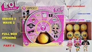 FULL BOX Opening LOL Confetti Pop Series 3 Wave 2! Part 4 Grunge Grrrl, V.R.Q.T, Pharaoh Babe