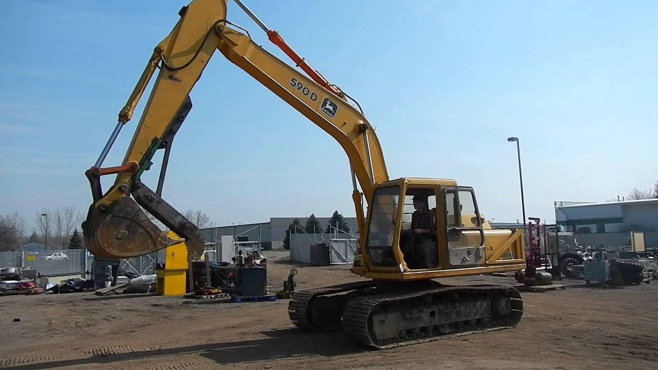 1990 John Deere 590d Hydraulic Excavator Youtube
