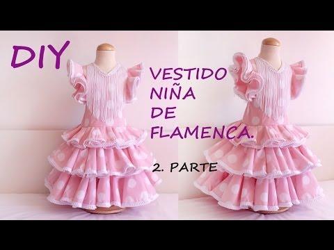 Diy Vestido niña flamenca 2ª parte: Vestido flamenca de niña con patronesmuje