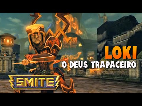 SMITE BRASIL - LOKI O Deus trapaceiro! BUILD + GAMEPLAY!