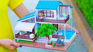 DIY Doll House With Pool 2