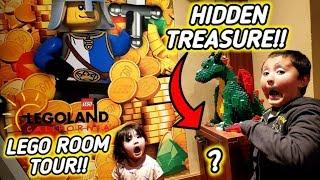 *TREASURE HUNT!* HIDDEN SECRET MYSTERY LOCKED INSIDE OUR LEGO ROOM!! LEGO CASTLE HOTEL TOUR & VLOG!