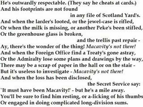 """""""Macavity: The Mystery Cat"""" by T.S. Eliot (read by Tom O ..."""