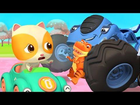 악당몬스터차가 장난감을 빼앗았다!|경찰차 출동!|아기 고양이|자동차동요|생활동요|베이비버스 인기동요|BabyBus