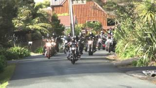 Tribute motorcycle ride in Auckland for Connor Morris