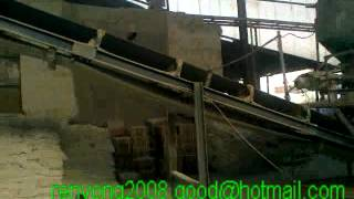 fertilizer coating machine and packing machine