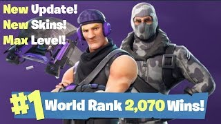 NEW SEASON 3 UPDATE - NEW SKINS, NEW WEAPONS, MAX LEVEL , #1 World Ranked 2,070 Solo Wins!