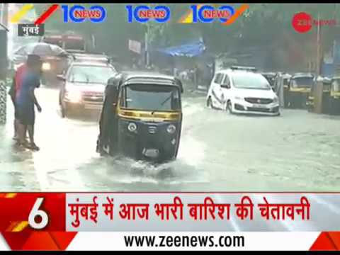 News 100: IMD issues warning of 'Heavy to Very Heavy Rains' in Mumbai for today