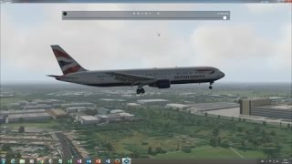 FlightFactor 767 Amsterdam to London in X-Plane 11.0