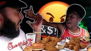 THINGS GET HEATED DURING CHICK-FIL-A  MUKBANG FT. DESHAE FROST!!