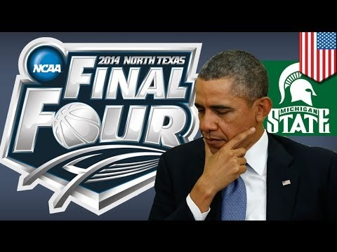 March Madness: Obama dooms Michigan State by picking them to win NCAA title