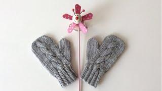 Tek Parmaklı Dikişsiz Çocuk Eldiveni / Knitting Children's Mittens