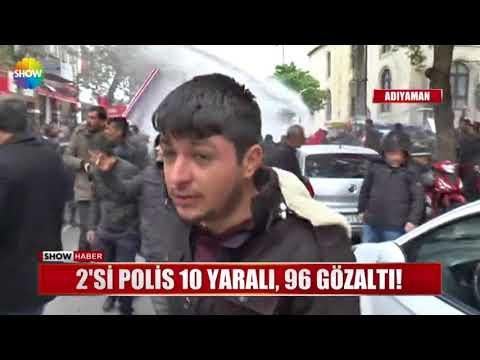 2'si Polis 10 yaralı, 96 gözaltı!