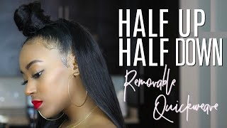 Half Up, Half Down REMOVABLE QUICK WEAVE! | Lumiere Hair