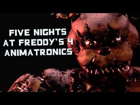 Five Nights At Freddy's 4 Animatronics  Yamimash1