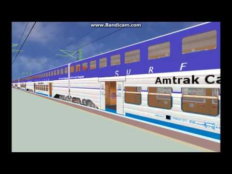 OpenBVE EXCLUSIVE Amtrak Surfliner California Car Train Pack Truck Update Release Video