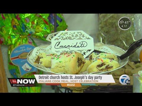Detroit church hosts St. Joseph's day part -- Italians cook meal, host celebration