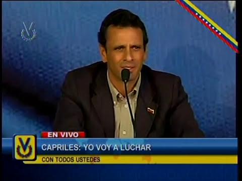 Capriles Radonski anuncia al país que se enfrentará a Maduro en las presidenciales del 14-A