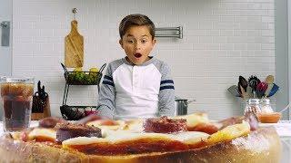 Deep Dish Pizza With String, Pepperoni & Thomas' Original Bagel