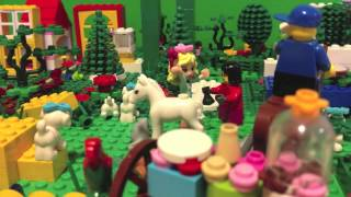 LEGO Stop Motion -Cake shop in a forrest