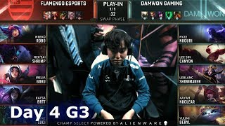 FLA vs DWG | Day 4 Play-In Stage S9 LoL Worlds 2019 | Flamengo Esports vs DAMWON Gaming