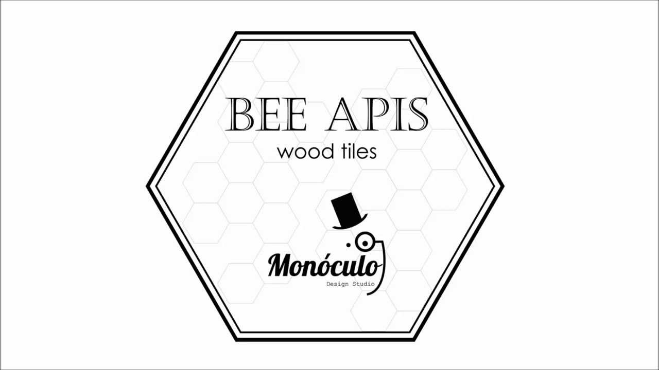 u0026quot bee apis u0026quot  wood tiles for wall decor