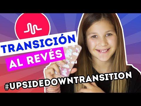 Musical.ly   Como hacer la Transición al Revés   Tutorial Upside Down Transition   Daniela Golubeva
