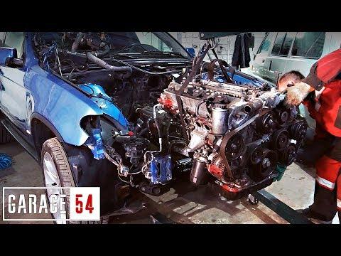 BMW X5 с ЯПОНСКИМ V12 - ПЕРВЫЙ ЗАПУСК