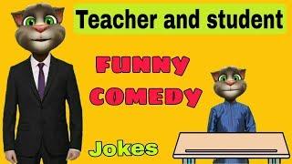 Talking Tom funny video- teacher student funny jokes//talking tom teacher student funny comedy