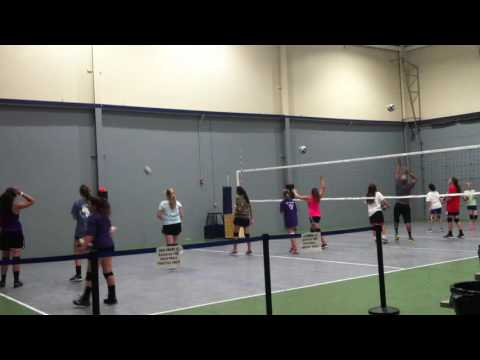 Vollyball Practice At MAC Sports In Dallas Texas