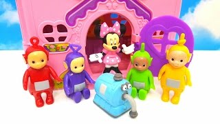 TELETUBBIES visit MICKEY MOUSE MINI HOUSE  Funny Video for Kids