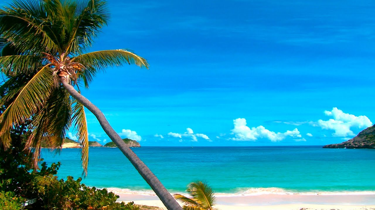 Relaxing beach desktop wallpaper