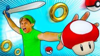 5 BRINQUEDOS INCRÍVEIS DE VIDEO GAMES ☆ VIREI O ZELDA ☆