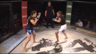 Vicious Female MMA Knockout Alida Gray Delivers Brutal KO Punch to Soannia Tiem - YouTube