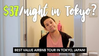 CHEAP AIRBNB TOKYO Apartment Tour! What $37 a NIGHT can get you in TOKYO, JAPAN!