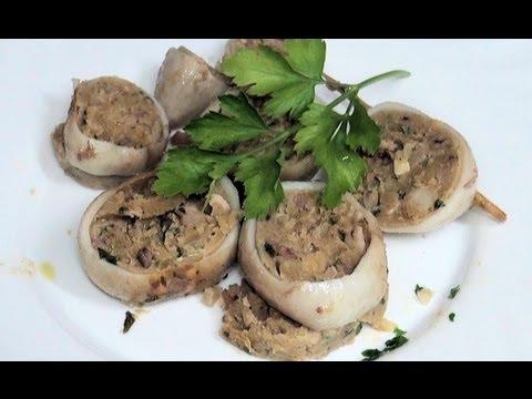Calamares rellenos Vídeo receta 144 Aquí cocinamos todos. Cooking recipe