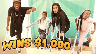 Last to Drop the CRUTCHES Wins $1,000