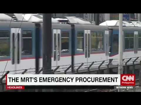 The MRT's emergency procurement