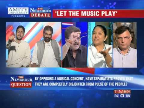 The Newshour Debate: CM backs concert, separatists oppose - Full Debate
