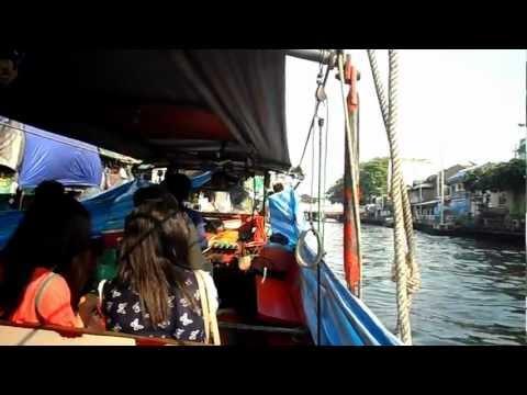 Bangkok, mit dem Wassertaxi auf dem Klong