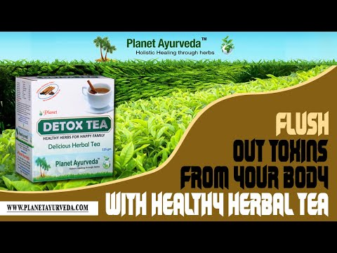 Planet Ayurveda Detox Tea - Best Herbal Tea for overall Detoxification of the Body
